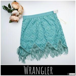 Wrangler Teal Tassel Skirt
